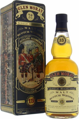 Glen Moray - 15 Years Old The Black Watch Royal Highland Regiments 43% NV