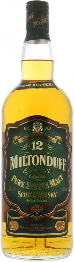 Miltonduff - 12 Years Old Pure Single Malt 43% NV