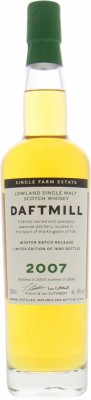 Daftmill - 12 Years Old 2007 Winter Batch Release Cask 047-053/2007 46% 2007