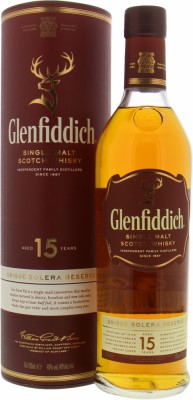 Glenfiddich - Unique Solera Reserve 15 Years Old 40% NV