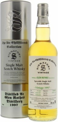 Glenrothes - 21 Years Old Signatory Vintage Cask 1749+1750 46% 1997