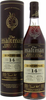 Speyside Region - Secret Speyside 14 Years The Maltman Cask 007 55.2%  2002