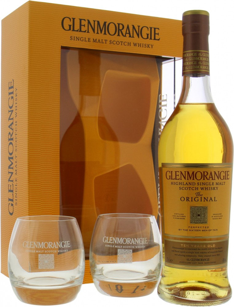 Glenmorangie - The Original 10 Years Old Coffret with 2 Tumblers 40% NV