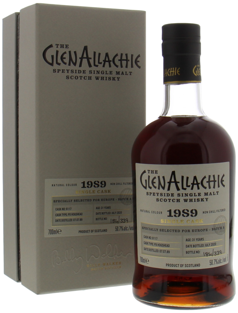 Glenallachie - 31 Years Old Batch 3 for Europe Cask 6117 50.7% 1989
