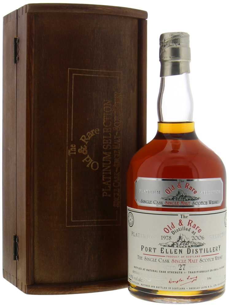 Port Ellen - 27 Years Old & Rare The Platinum Selection 54.8% 1978