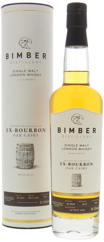 Bimber - London Whisky Ex Bourbon Oak Casks Batch 02/2020 52.2% NV