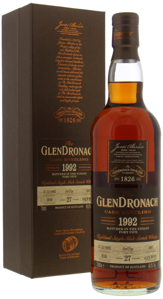 Glendronach - 27 Years Old Batch 18 Cask 5897 48% 1992