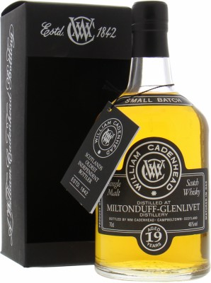 19 Years Old Small Batch Cadenhead 46%Miltonduff -