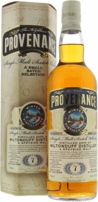 Miltonduff - 7 Years Old McGibbons Provenance Cask:DMG9239 46% 2005
