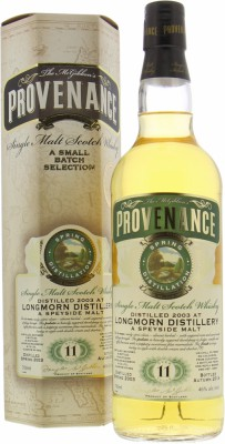 Longmorn - 11 Years Old McGibbon's Provenance Cask DMG10544 46% 2003