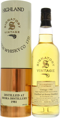 Brora - 19 Years Old Signatory Vintage Collection Cask:  575 1 Of 405 43% 1981