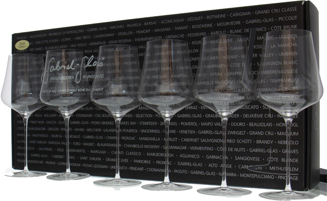 Gabriel - Gold Edition set 6 glasses NV