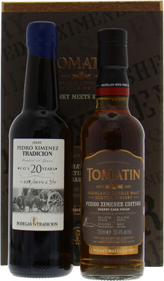 Tomatin - 13 Years Old Cask 36130 & 1 Bottle of PX Sherry 20 Years Old 53,4% 2002